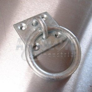 Binnacle Rings / Ring on Plate: Galvanised