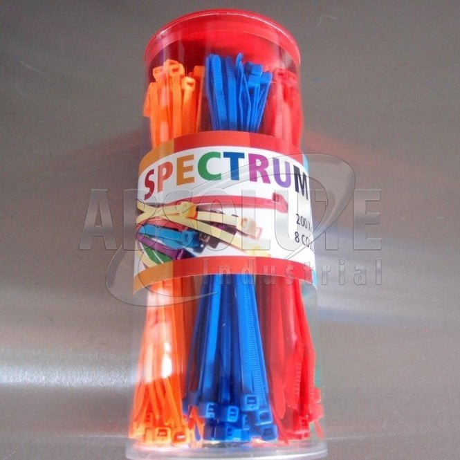 Cable Ties - MULTI-COLOURED (Spectrum)
