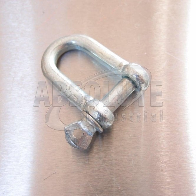Commercial Dee Shackle: Galvanised with Screwed Collar Pin