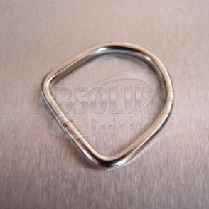Dee Ring Mild Steel - Nickel Plated