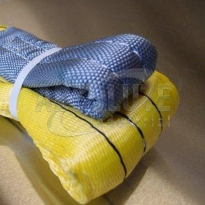 Duplex Polyester Webbing Slings to BSEN1492 Part 1 - 3000kg Load - yellow