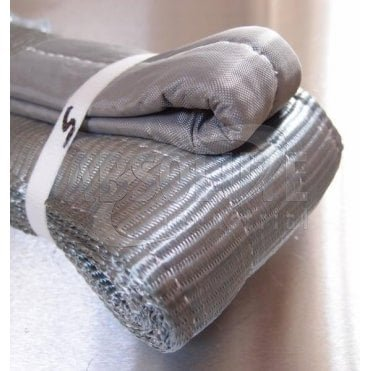 Duplex Polyester Webbing Slings to BSEN1492 Part 1 - 4000kg Load - grey