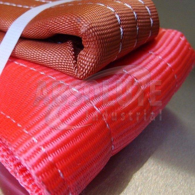 Duplex Webbing Slings to BSEN1492 Part 1 - 5000kg Load - red