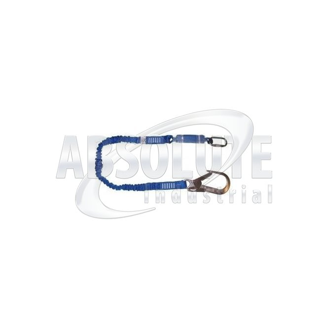 Elasticated Shock Absorbing Lanyard With Scaffold Hook - 1.75m