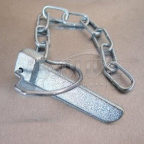 Flat Cotter Pin Spring Ring and Chain - Zinc Plated