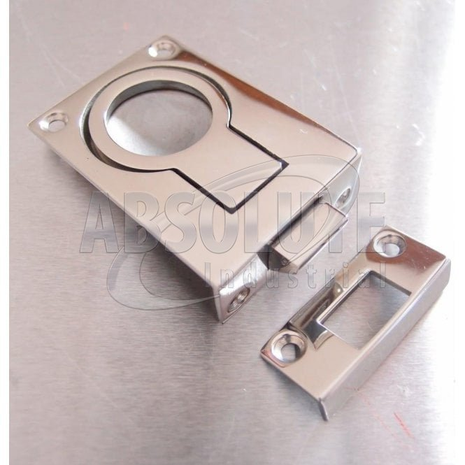 Flush Lifting Pull with Catch and Strike Plate Stainless Steel - AISI316