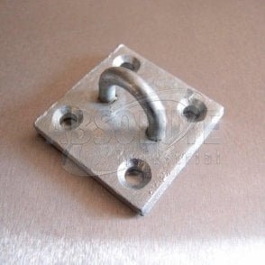 Galvanised Eye Plates - Staple-on-Plate
