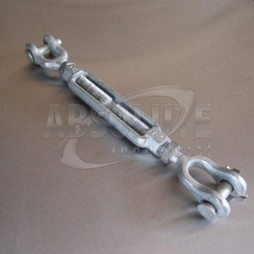 Galvanised Open Body Turnbuckles: US Federal Specification FF-T-791 B - Jaw & Jaw
