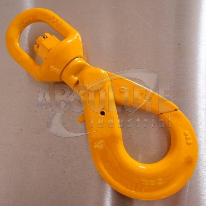 Grade 8 Swivel Self Locking Hook