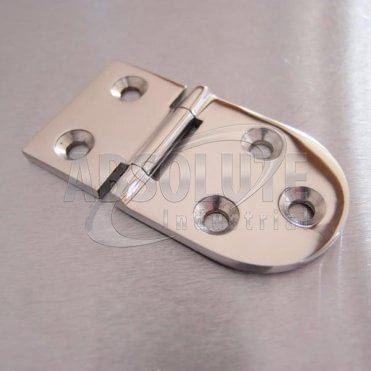 Half Oval Hinge Stainless steel AISI 316