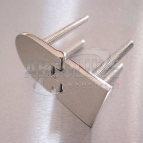 Half Oval Hinge with  Threaded Studs Stainless steel AISI 316