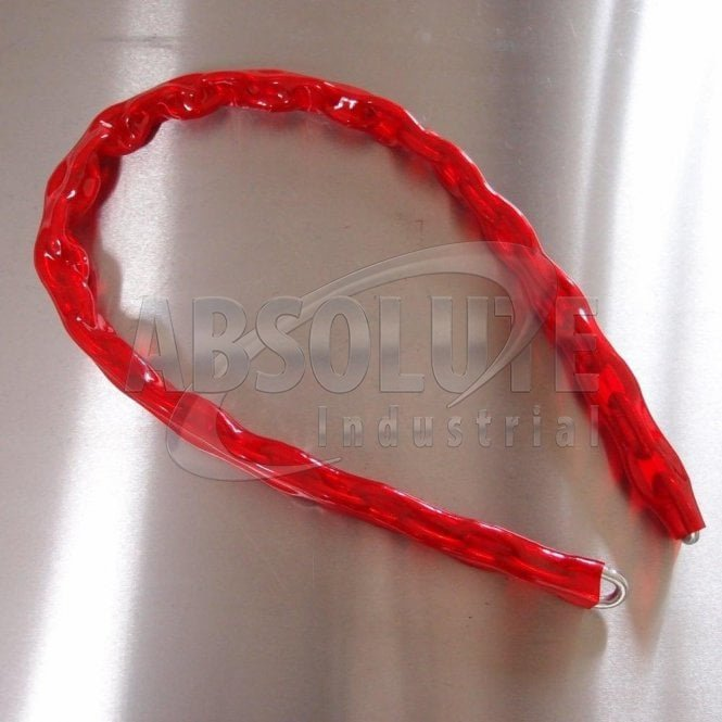 Hardened Anti-Theft Chain - Red Thermowrapped Sheath