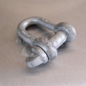 Large Dee Shackles High Tensile with Type A Pins - Galvanised