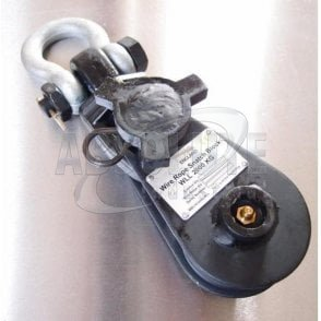 Lightweight Heavy Duty Snatch blocks with Roller Bearing Sheaves - with Swivel Shackle