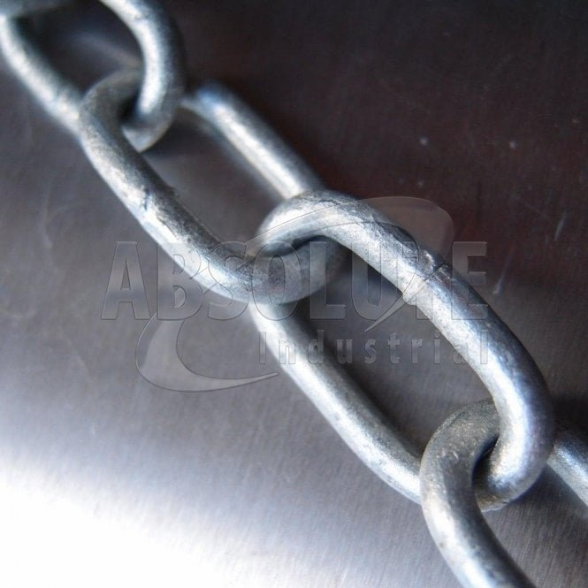 Mild Steel Welded Straight Link Chain - Hot Dipped Galvanised
