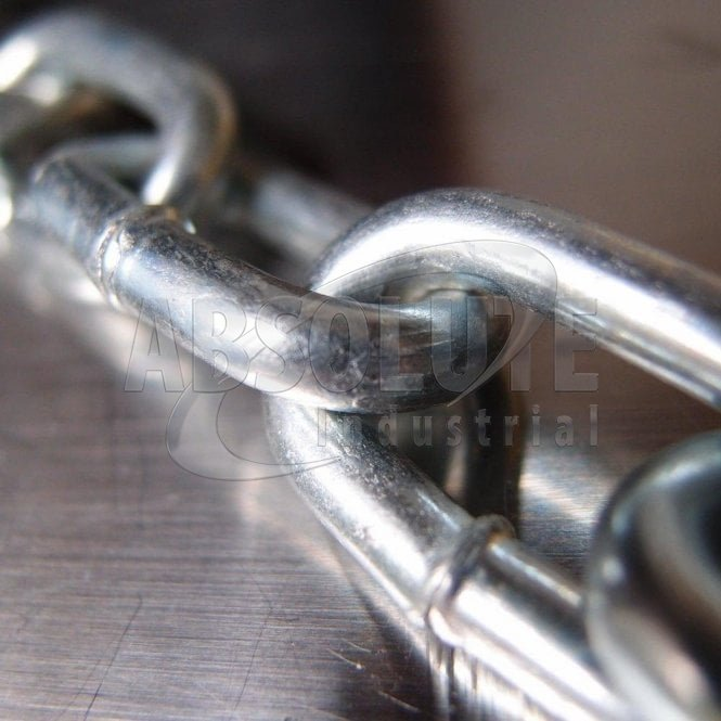Mild Steel Welded Straight Link Chain - Zinc Plated