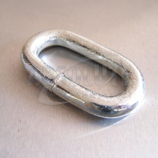 Oval Links Welded Mild Steel - Zinc Plated