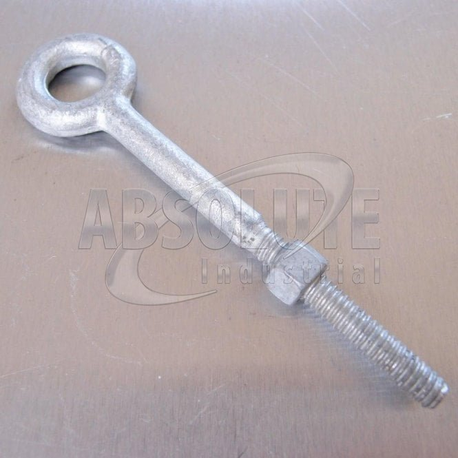 Regular Nut Eyebolts with Nut Galvanised - Pack of 10