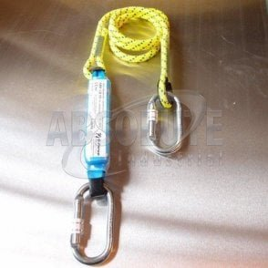 Shock Absorbing Lanyard With Karabiners - 1.75m
