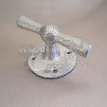 Single Bollard Cleats Round Base: Galvanised