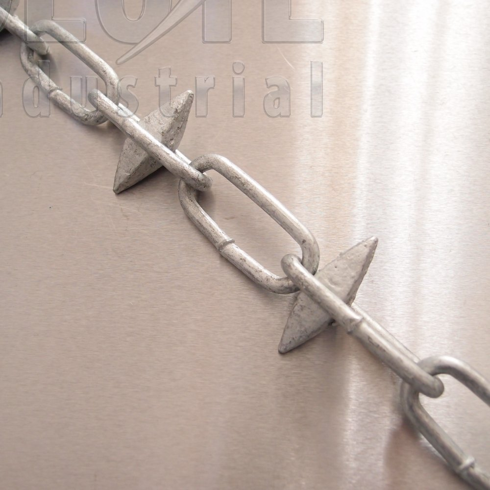 Spiked Fence Chain - Galvanised