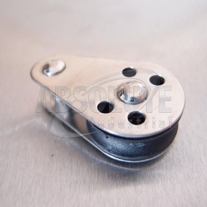 Stainless Steel 25mm Pulley Block with Nylon Sheave - Fixed Pin