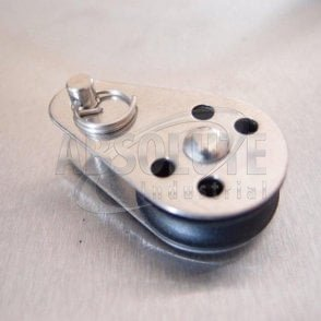 Stainless Steel 25mm Pulley Block with Nylon Sheave - Removable Pin