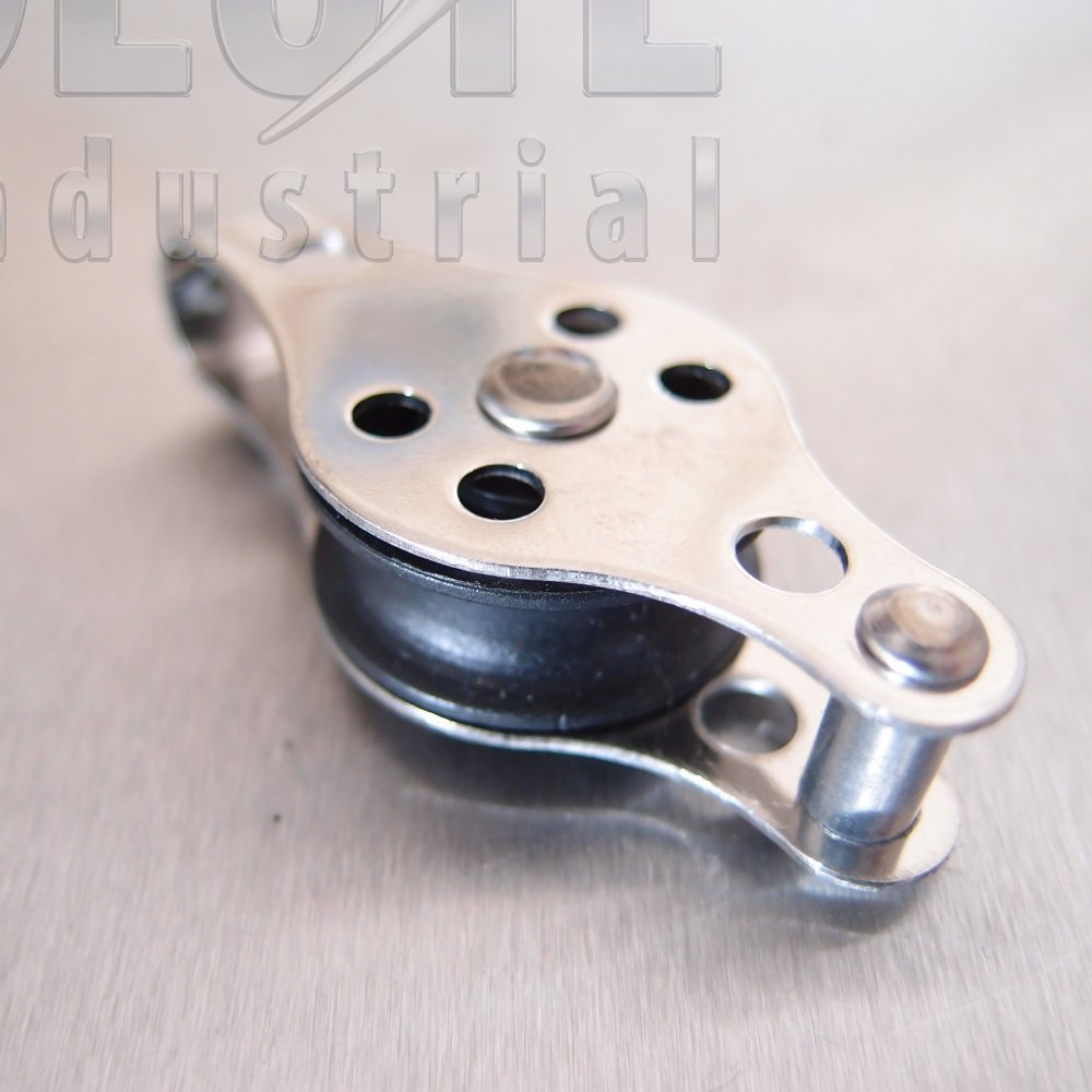 Block Pulley : Stainless steel mm pulley block with nylon sheave type from absolute industrial ltd uk