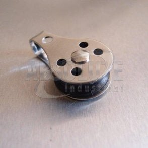 Stainless Steel 25mm Pulley Block with Nylon Sheave - Type 2