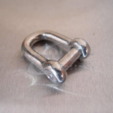 Stainless Steel Dee Shackles - with Countersunk Flush Pin - AISI 316