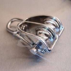 Stainless Steel Double Sheave Blocks with Swivel Oval Eye