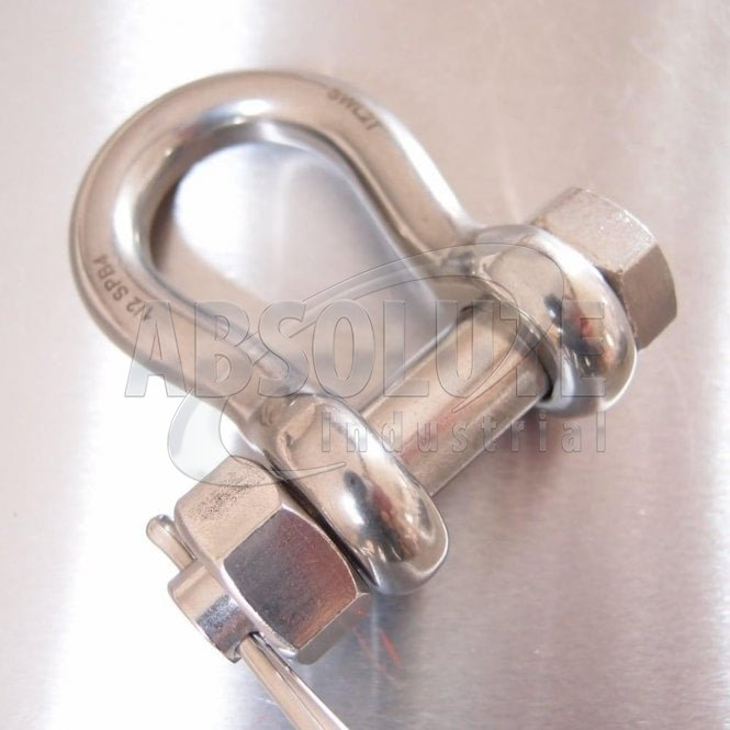 Stainless Steel Load Rated Safety Bow Shackle - AISI 316