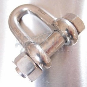 Stainless Steel Load Rated Safety Dee Shackle - AISI 316