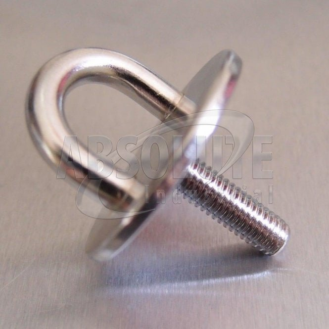 Stainless Steel Round Eye Plates with Screwed Thread