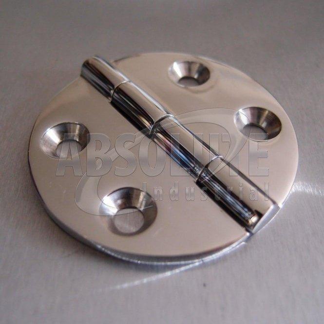 Stainless Steel Round Hinge 64mm - 316 Marine grade