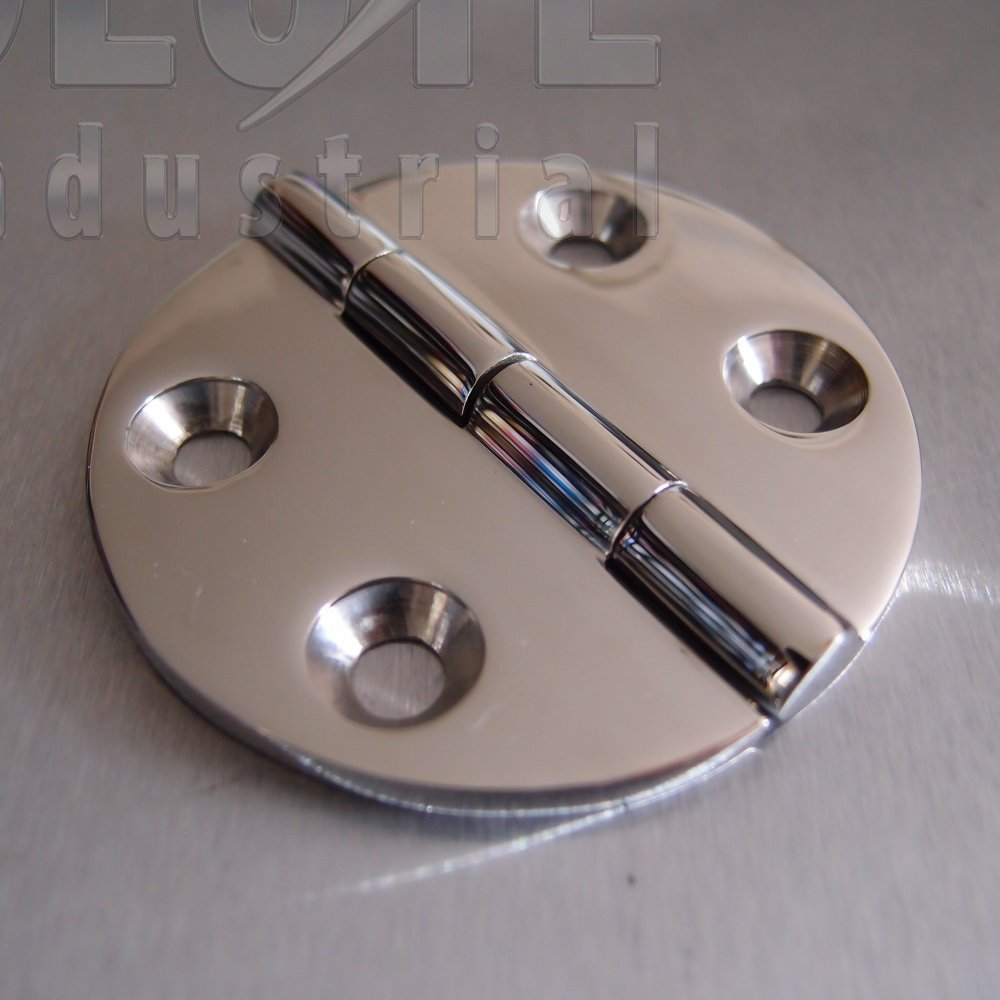 Stainless Steel Round Hinge 64mm 316 Marine Grade From