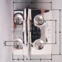 Stainless Steel Small Square Offset Hinges 52mm x 61mm - 316 grade