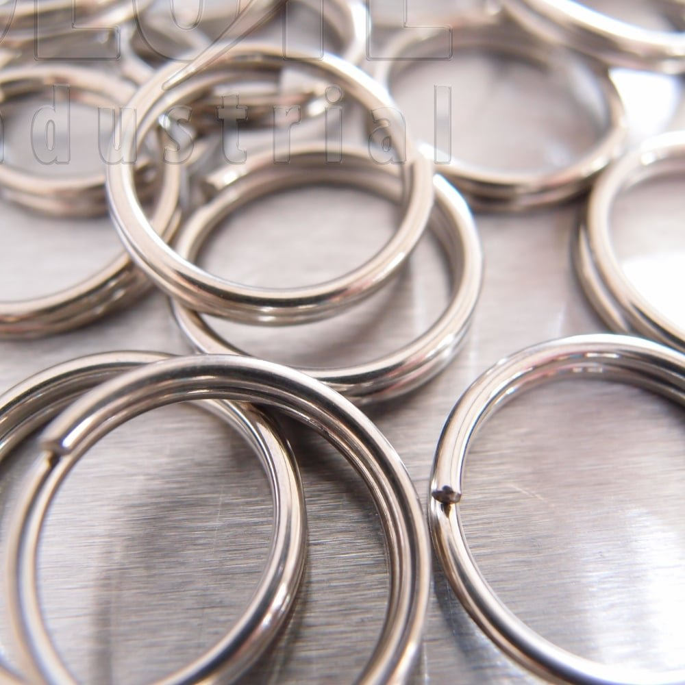 Stainless Steel Split Round Ring Key Rings - from Absolute ... 1a946cb36cde