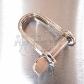Stainless Steel Strip Dee Shackles - with Screw Pin
