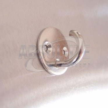 Stainless Steel Two Hole Round Hook On Plate 304 AISI