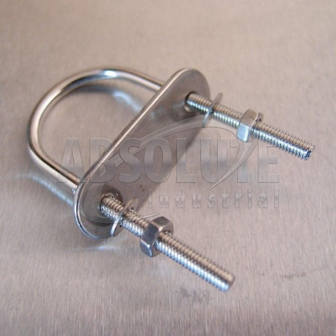 Stainless Steel U Bolt with Plate-Nuts and Washers - from