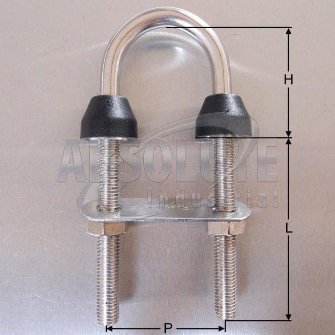 Stainless Steel U Bolts with Plate-Nuts under Nylon Collars