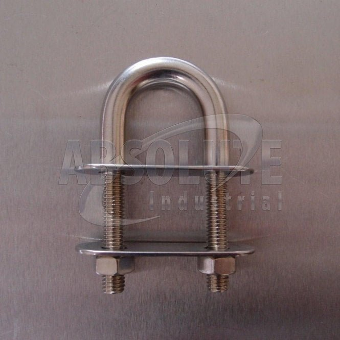 Stainless Steel U Bolts with two Plates and Nuts - from