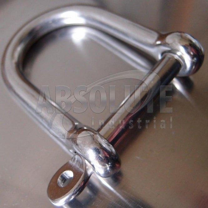 Stainless Steel Wide Jaw Dee Shackle - AISI 316