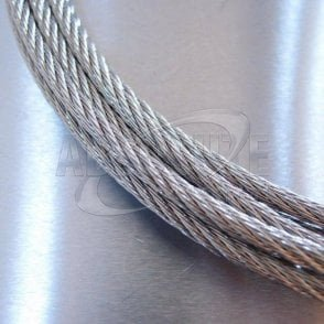 Stainless Steel Wire Rope - Stainless Steel 316 - 7 x 7 WSC 100m reel