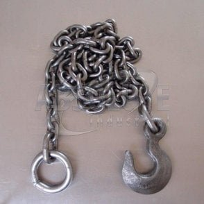 Tow Chains with Ring and Slip Hook mild steel for agricultural and 4 x 4 Off-road use