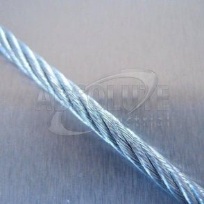 Wire Rope: Galvanised Steel - 7 x 19 Wire Steel Core 100m reel