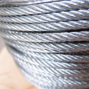 Wire Rope: Galvanised Steel - 7 x 7 Wire Steel Core