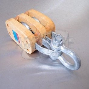 Wooden Blocks fitted with Shackle - Double