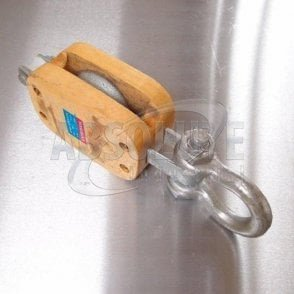 Wooden Pulley Blocks: Single with Shackle